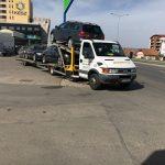 Transport remorcări de autoturisme pe platformă