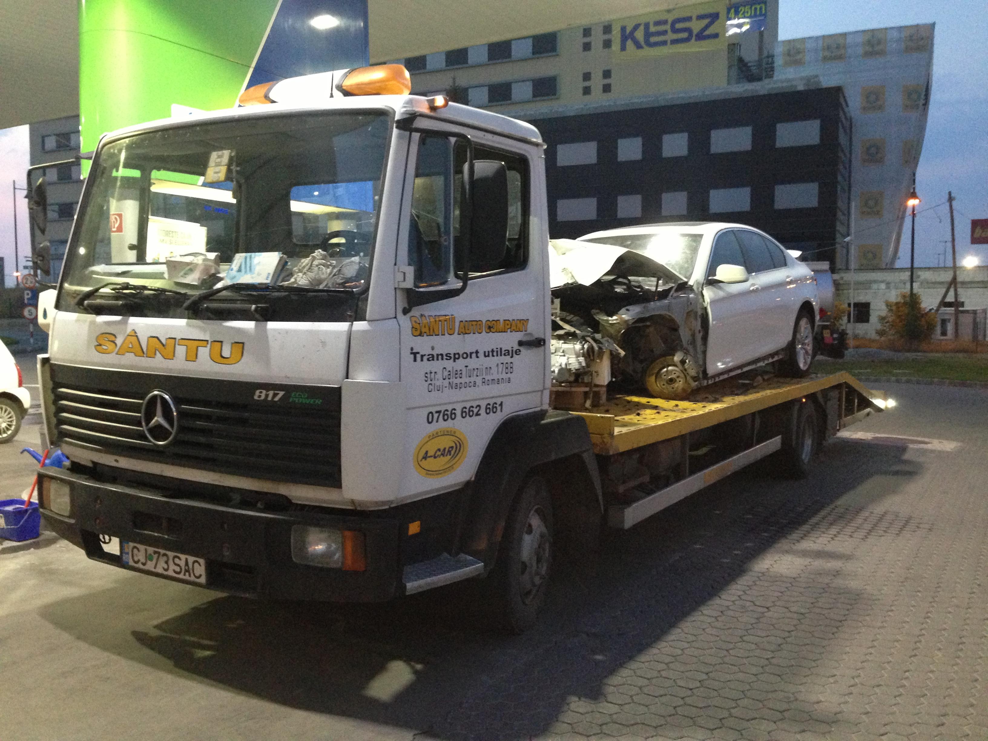 Tractări mașini avariate Cluj