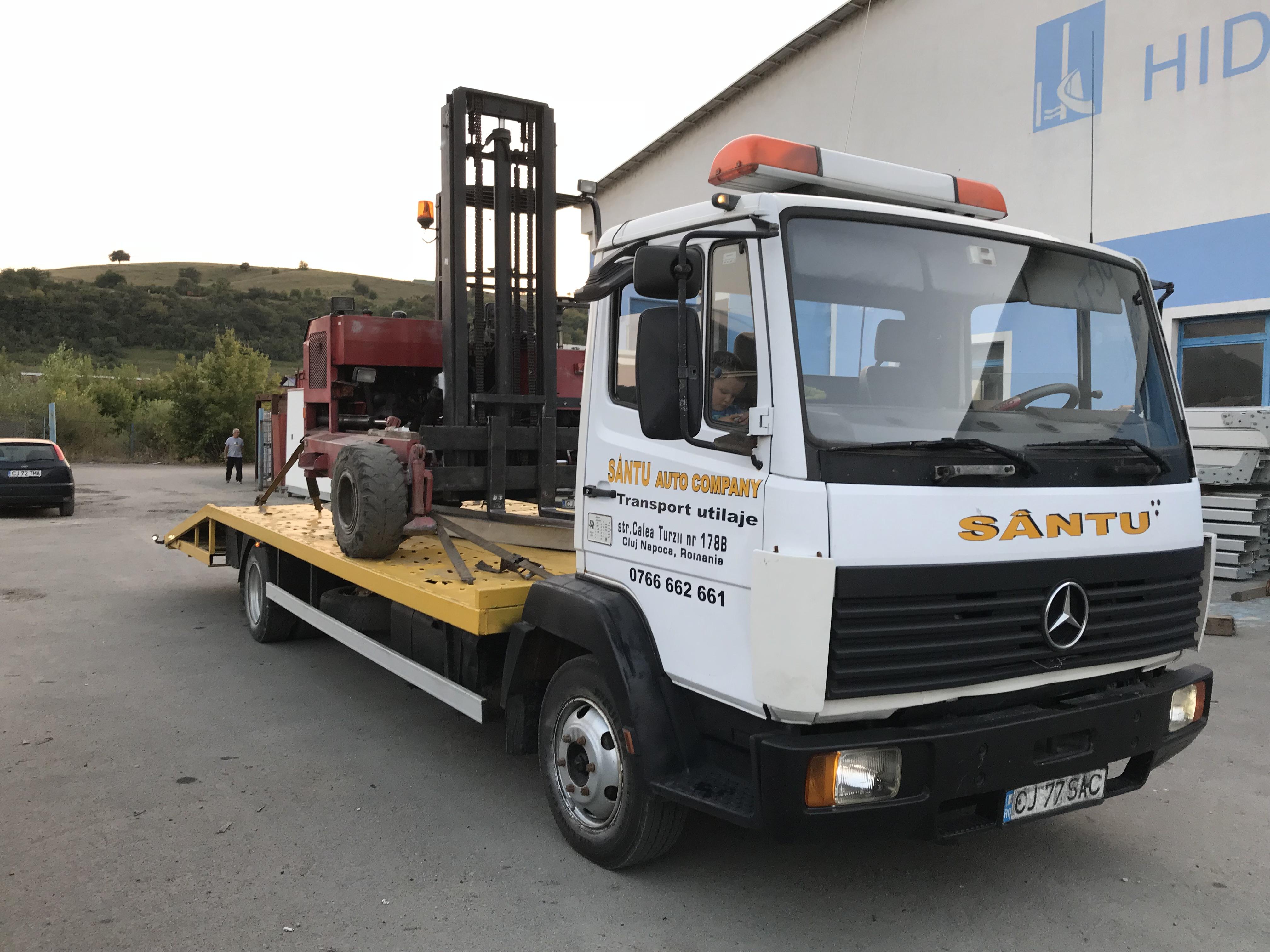 Transport utilaje Autostrada Gilău