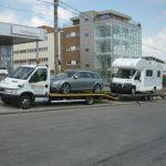 Remorcări de autoturisme pe platformă